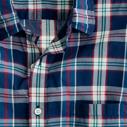 Slim Secret Wash lightweight shirt in Pattersen plaid