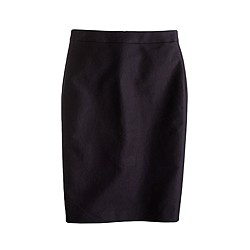 Long No. 2 pencil skirt in double-serge cotton