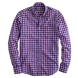 Slim Secret Wash shirt in bright gingham