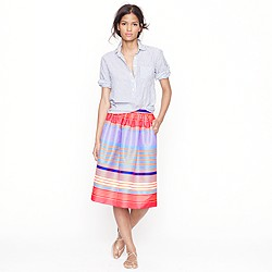 Neon-stripe skirt