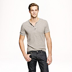 Stock jersey short-sleeve henley