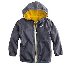 Boys' reversible K-Way® Claude waterproof jacket