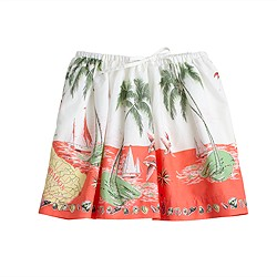 Girls' full skirt in Barbados print