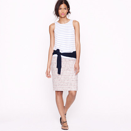 Collection No. 2 pencil skirt in gingham tweed