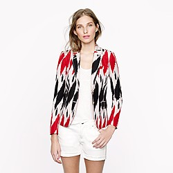 Collection schoolboy blazer in ikat
