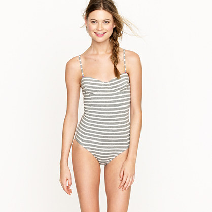 Stripe cotton underwire tank