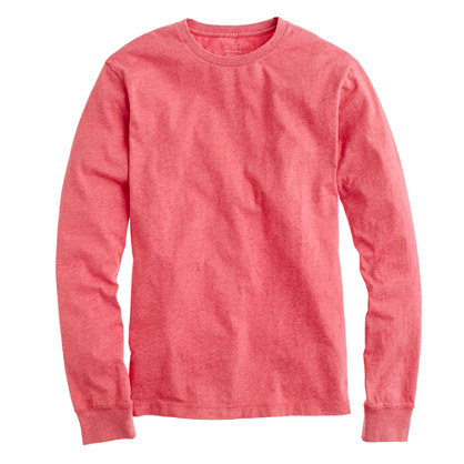 Broken-in long-sleeve tee