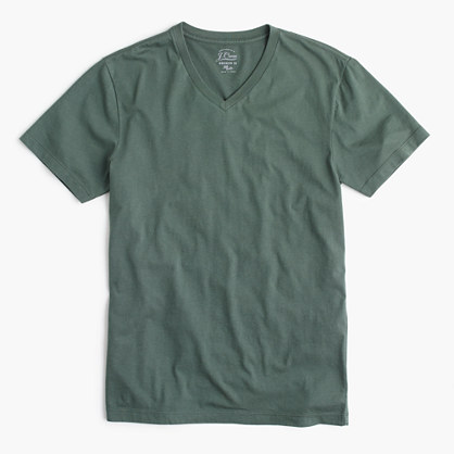 Broken-in V-neck tee