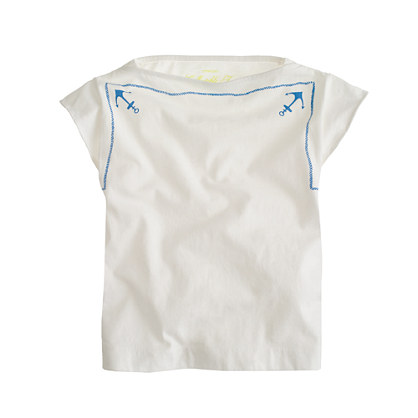 Girls' anchor scarf tee