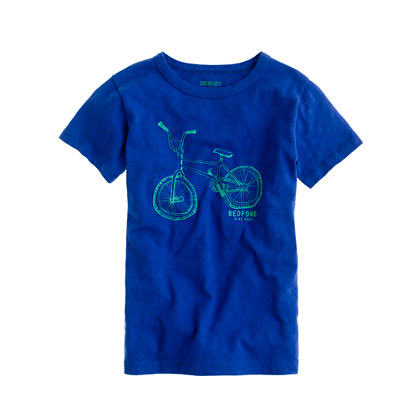Boys' Bedford bike shop tee