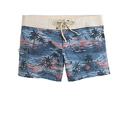 Hawaiian sunset board shorts