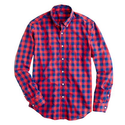 Secret Wash lightweight shirt in Fliss check