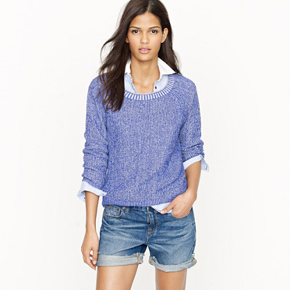 Linen two-tone sweatshirt