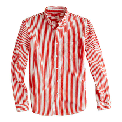 Secret Wash lightweight shirt in cardinal stripe