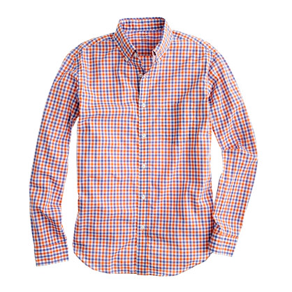 Slim Secret Wash lightweight shirt in Galland check