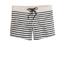 Surf stripe board shorts