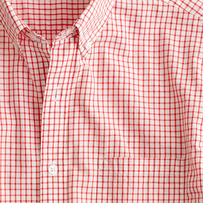 Slim Secret Wash lightweight shirt in Matthews check