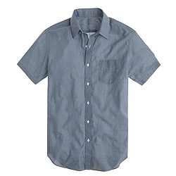 Lightweight short-sleeve shirt in chambray