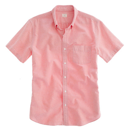 Sun-faded oxford short-sleeve shirt