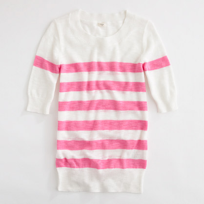 Factory short-sleeve stripe sweater