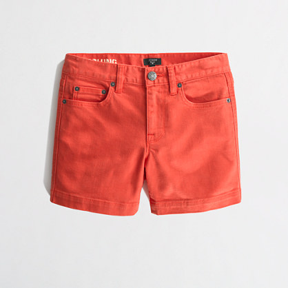 "Factory 4"" garment-dyed denim short"