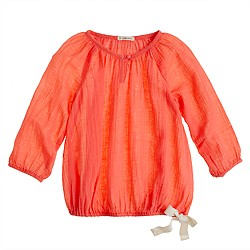 Girls' whisper gauze top