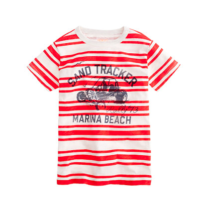 Boys' dune buggy stripe tee