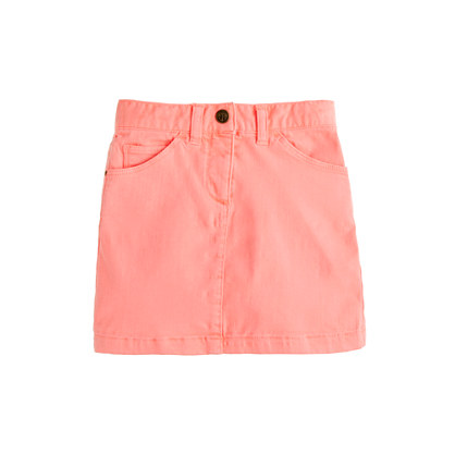 Girls' garment-dyed denim mini