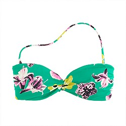 Punk floral bandeau top