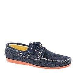 Quoddy® for J.Crew denim 3-eye boat shoes