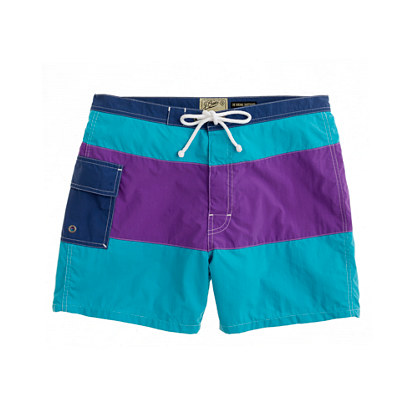 "5"" Portofino trunks in colorblock"