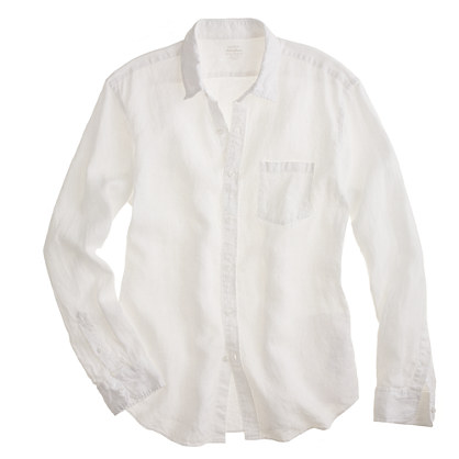Slim Irish linen shirt