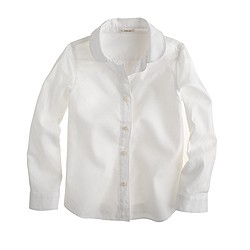 Girls' Peter Pan-collar blouse