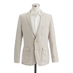 Unconstructed Ludlow sportcoat in washed Irish linen