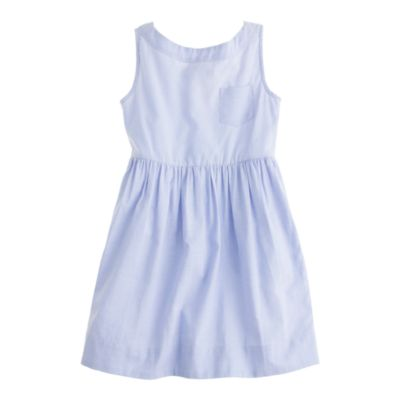 Girls' tissue oxford dress