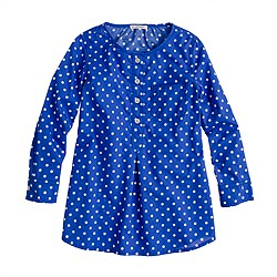 Girls' pocket tunic in dot