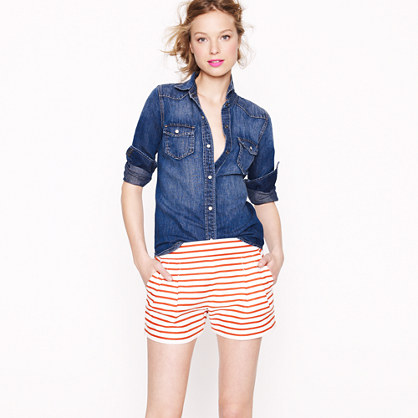 Nautical stripe short