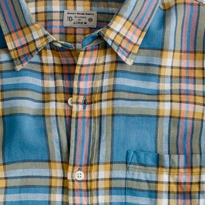 Summerweight twill shirt in Winnicut plaid