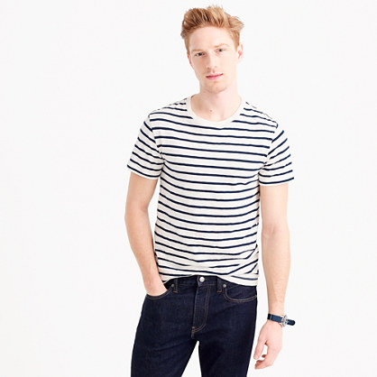Slub jersey tee in deck stripe