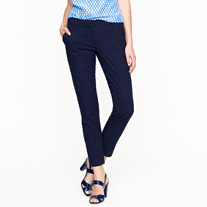 Tall café capri in domino eyelet