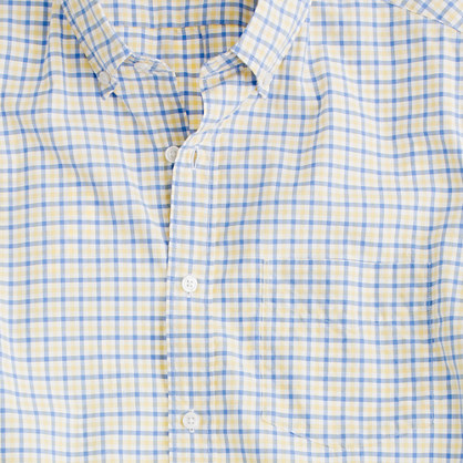 Secret Wash short-sleeve shirt in Irving tattersall