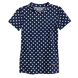 Girls' short-sleeve rash guard in classic dot