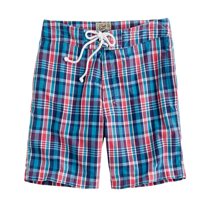 "7"" board short in Chilmark plaid"