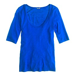 Drapey elbow-sleeve tee