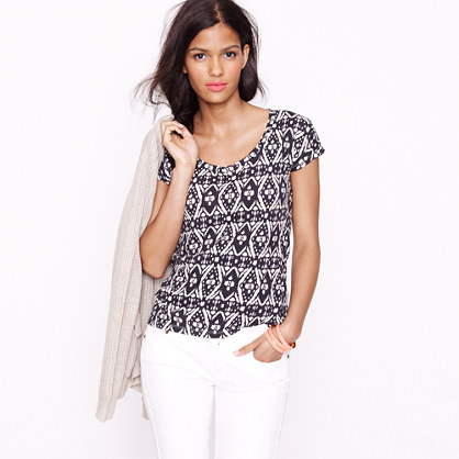 Vintage cotton tee in ikat