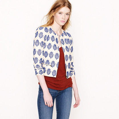 Filigree embroidered jacket