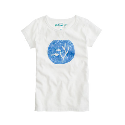 Girls' glam goldfish tee