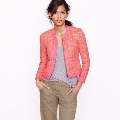 Plaid bouclé tweed jacket