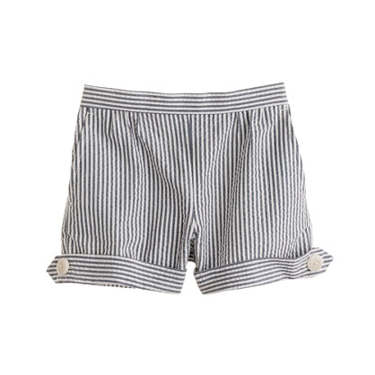 Girls' seersucker short