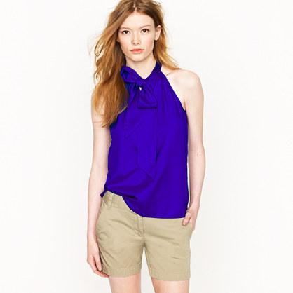 Silk bow cami   sleeveless   Womens shirts & tops   J.Crew